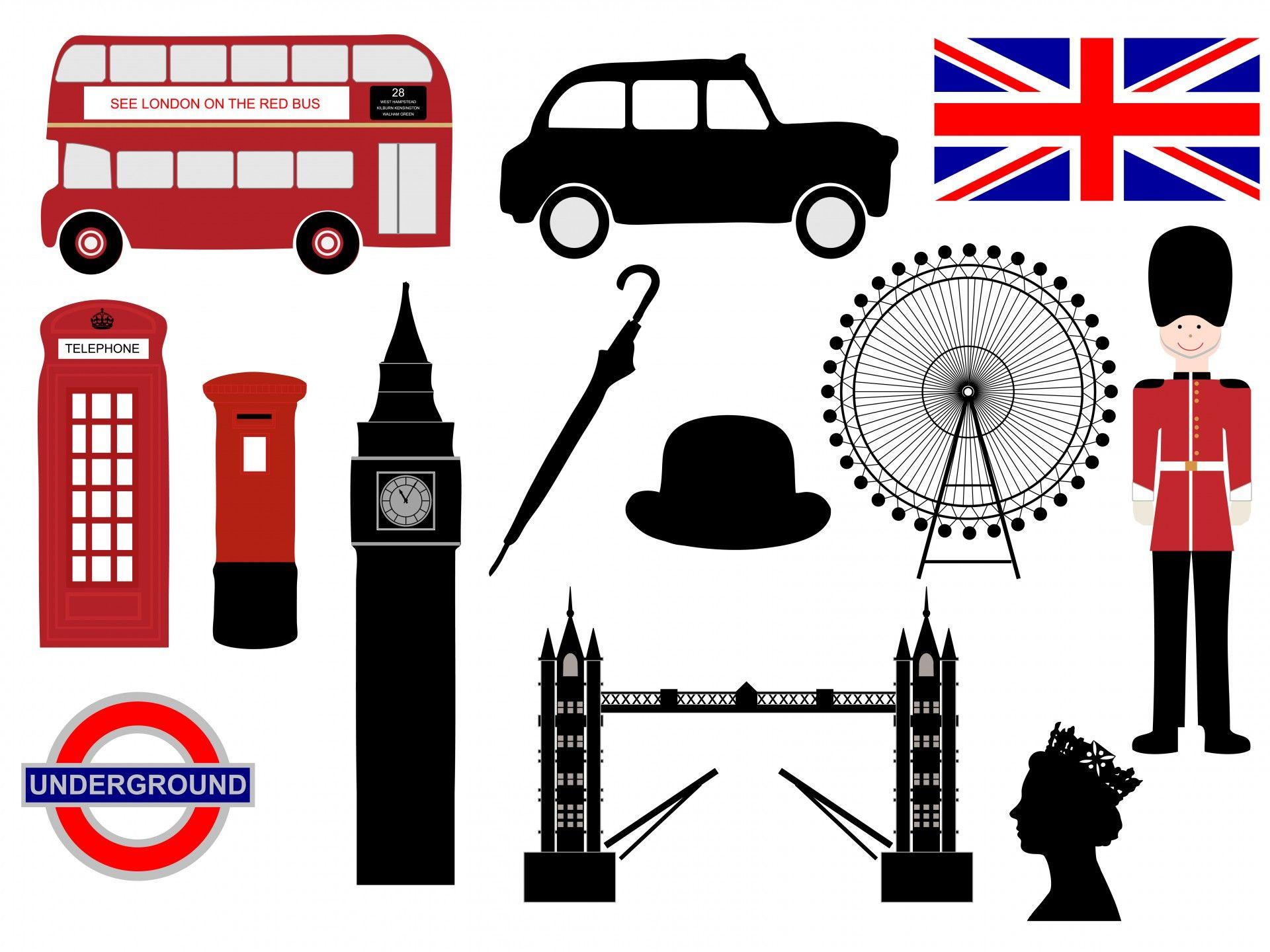 Londra Icone ClipArt.
