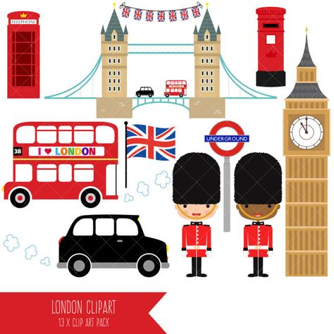 Londres Clipart / British Clipart / Angleterre.