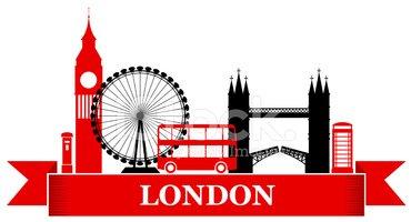 Retro London Label Stock Vector.