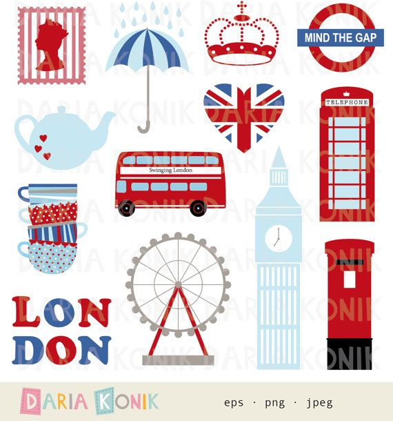 London Clip Art Set.