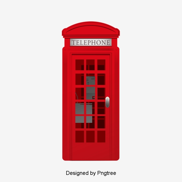 Telephone Booth, United Kingdom, London PNG Transparent.
