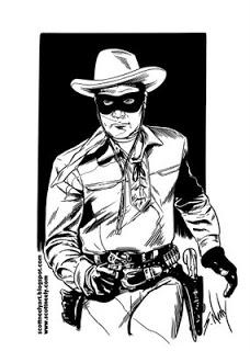 The Lone Ranger Clip Art.