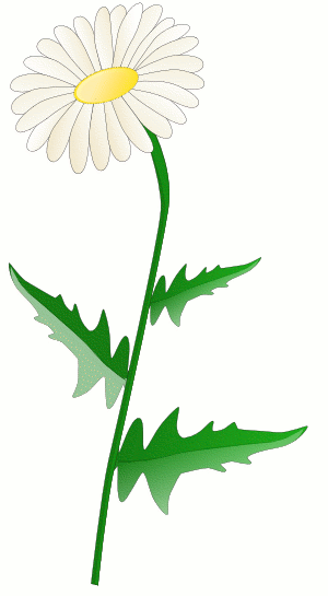 Lone Flower Clip Art.