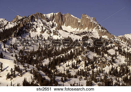Stock Photography of Lone Peak in the Wasatch mountains of Utah.