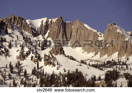 Stock Photograph of Lone Peak in the Wasatch mountains of Utah.