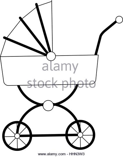 Lone stroller clipart #16