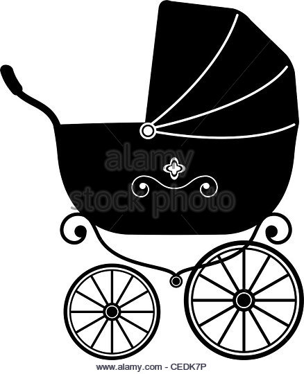Pushchair Black and White Stock Photos & Images.
