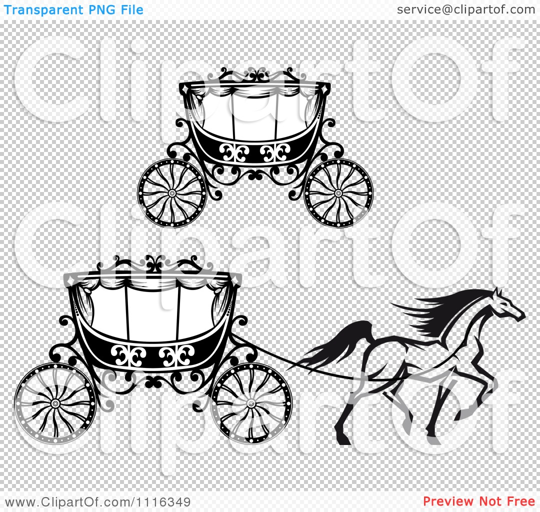 Clipart Black And White Prancing Horse And Romantic Wedding.