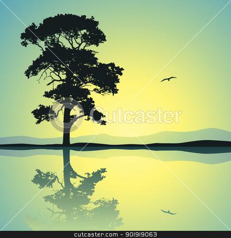 Lone Tree stock vector.