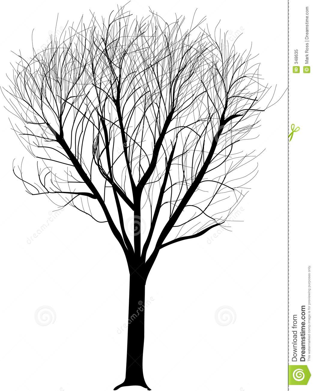 Lone Tree Illustration Royalty Free Stock Photo.