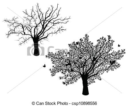 Clipart Vector of Lone tree.