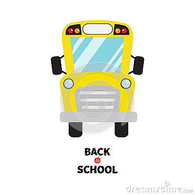 School Bus Clipart Royalty Free Stock Image.