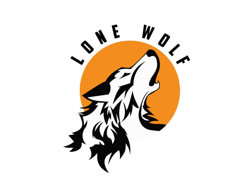 This my lone wolf logo I also did for my branding class.