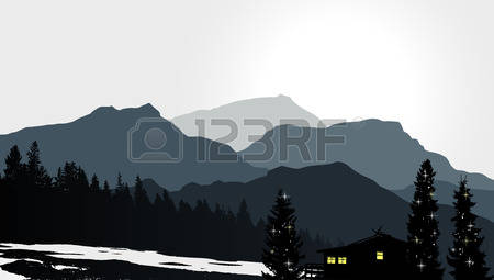 6,410 Mountains And House Stock Vector Illustration And Royalty.