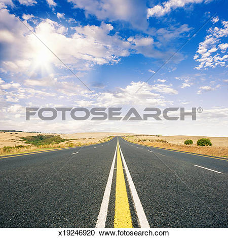 Stock Photography of Lonely Road South Africa x19246920.