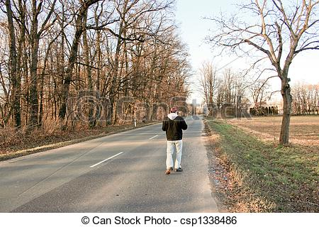 Stock Image of the lonely stride.