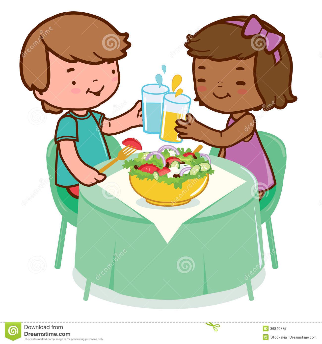 Gesundes Frühstück Kindergarten Clipart.