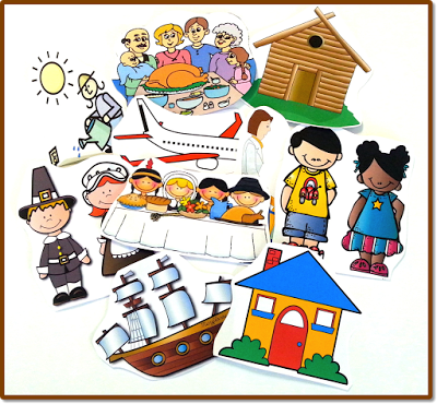FREE clipart and a project for teaching long ago and present.