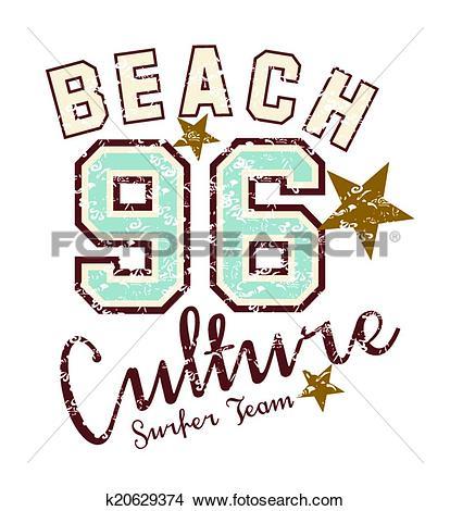 Clipart of paradise long beach vector art k20629374.