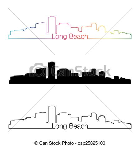 Long beach skyline Illustrations and Clip Art. 39 Long beach.
