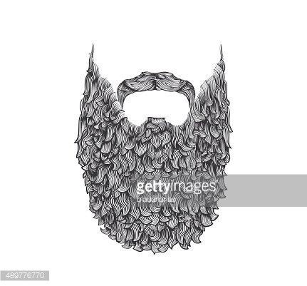 Long Beard premium clipart.