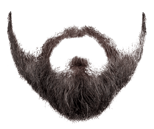 Grey Black Beard transparent PNG.