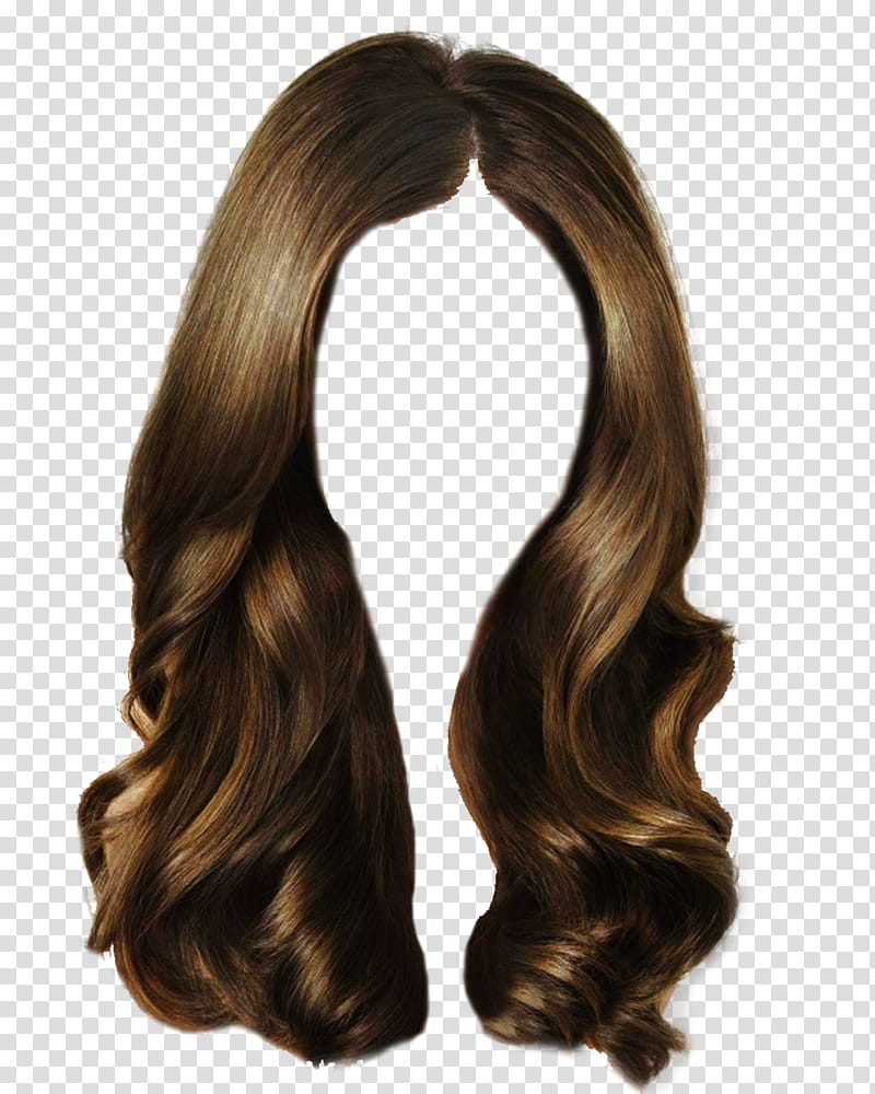 Hair , brown wig transparent background PNG clipart.
