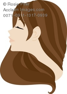 Long Brown Hair Clipart.