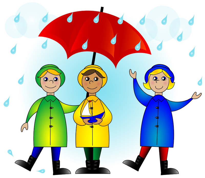 cloudy day and raining clipart #2