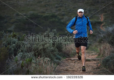 Trail Running Stock Images, Royalty.