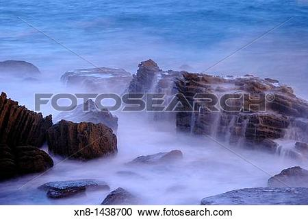 Stock Photography of Night photography with long exposure time of.