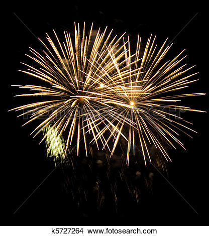 Stock Photo of High quality firework over night city made with.