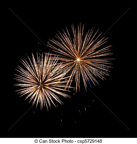 Pictures of High quality firework over night city made with long.