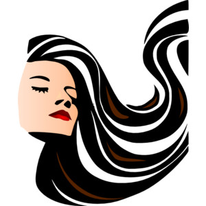 Clipart long hair.