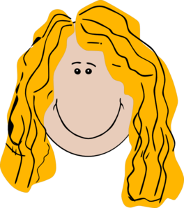 Long Hair Girl Clipart.