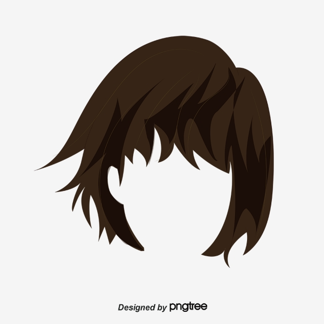 Black Hair PNG Images.