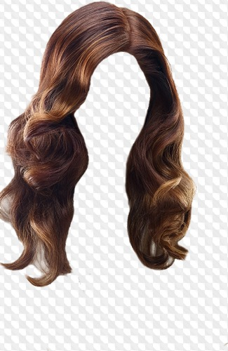 Hairstyles with long hair PNG, PSD.