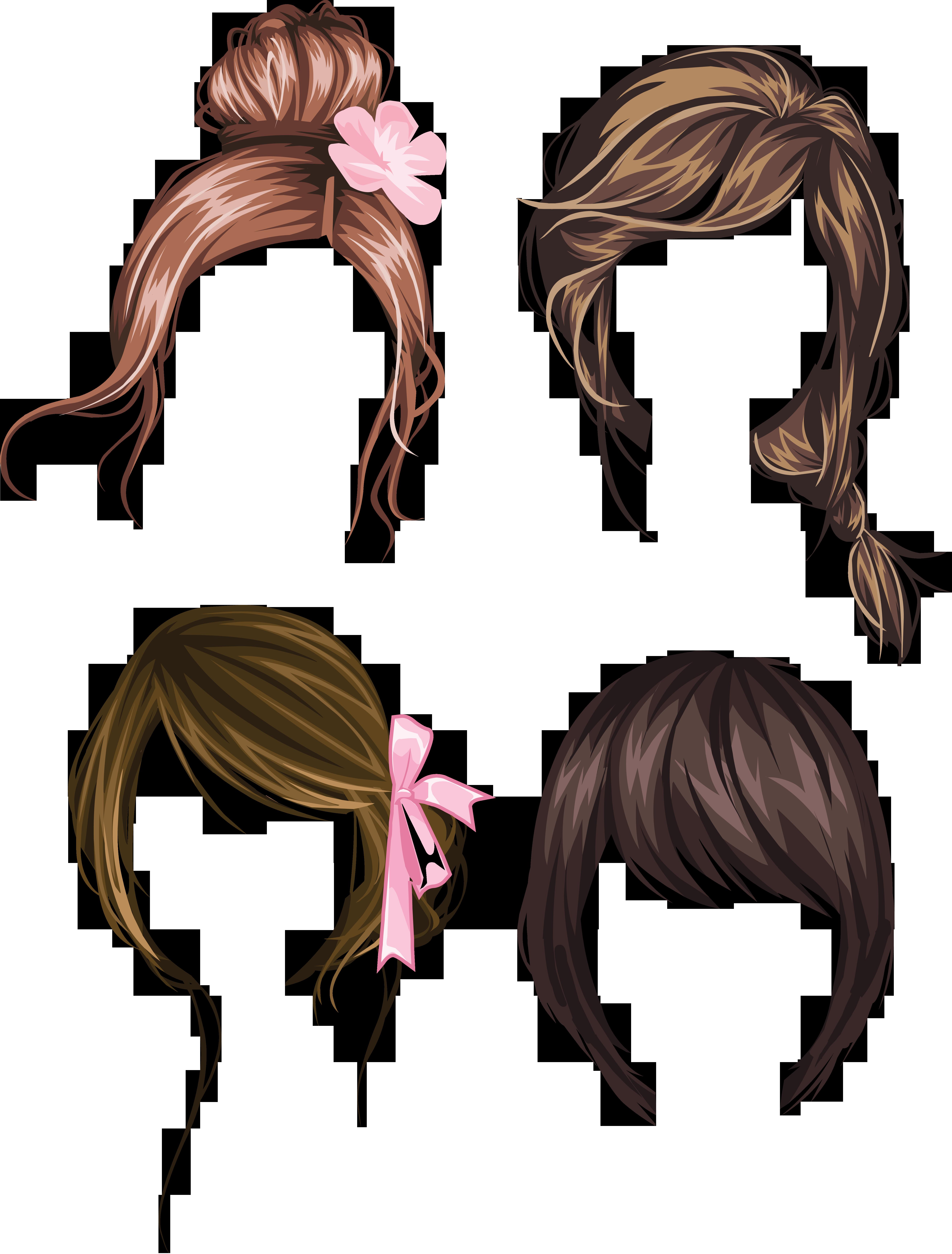 Hair wig PNG.