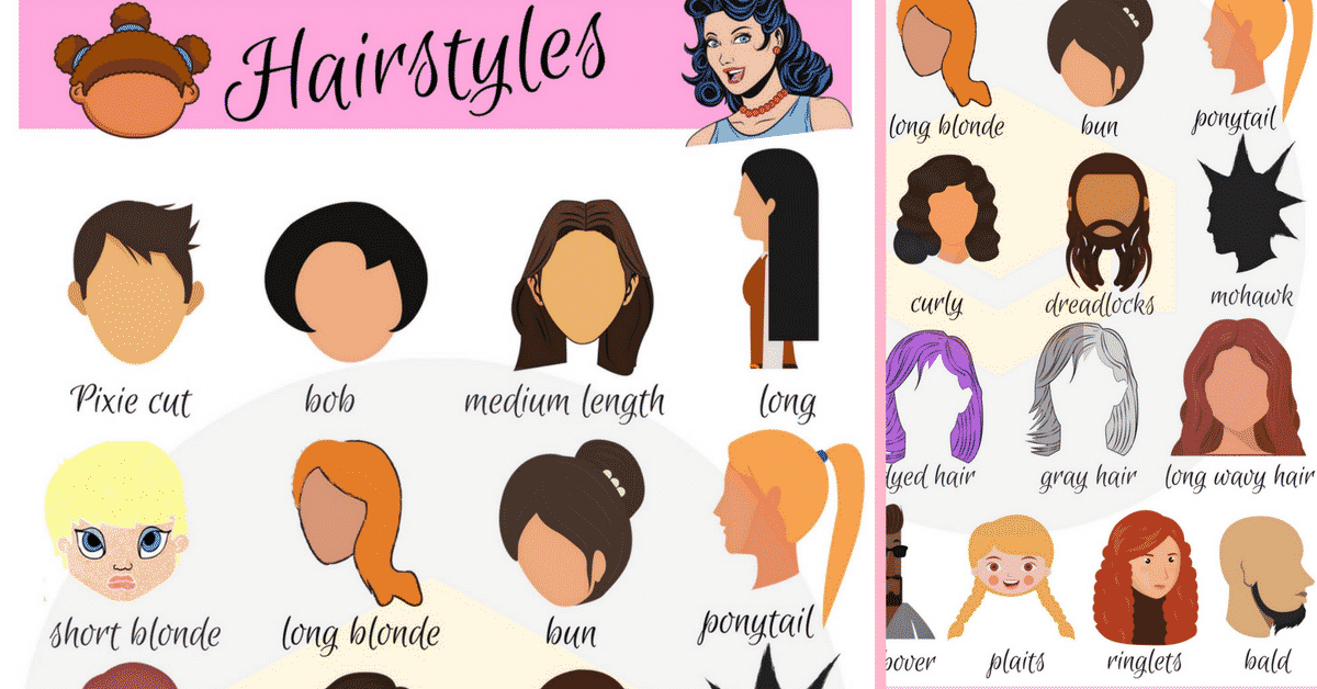 Hairstyle Names: Types of Haircuts with Useful Pictures.