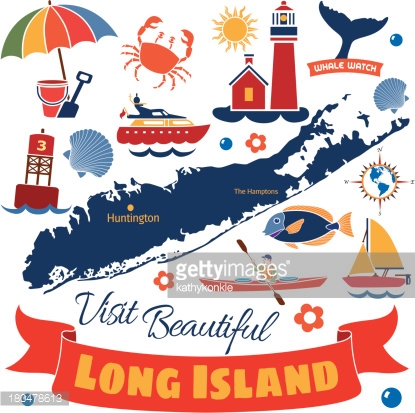 Long Island Vector Art.