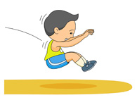 Track And Field Long Jump Clipart.