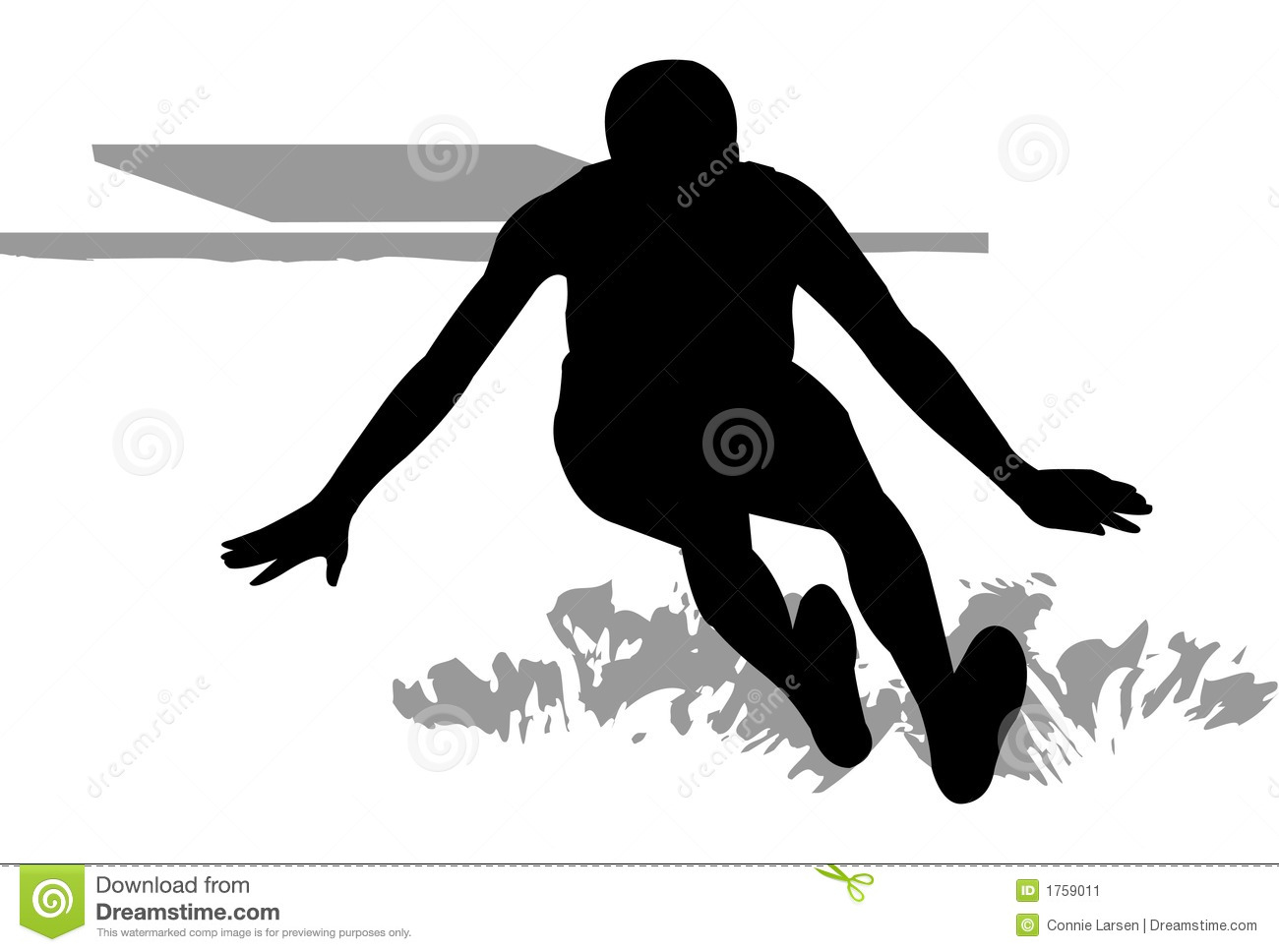 Long Jumper Stock Image.