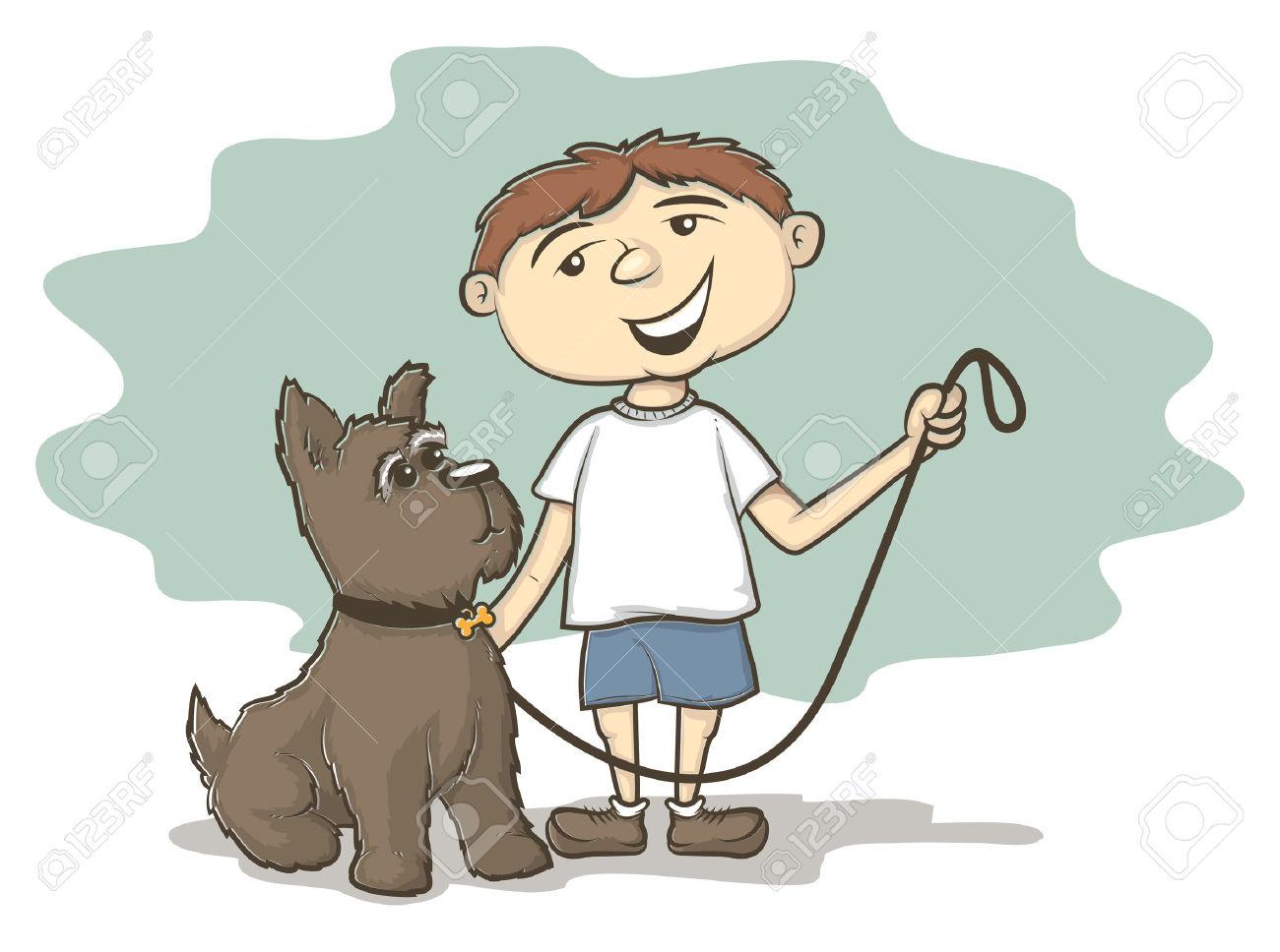 Furry long dog clipart.