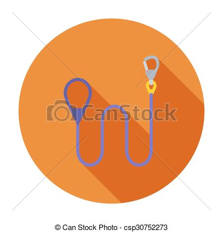 Vectors Illustration of Leash icon. Flat vector related icon with.