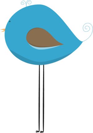 Long Legged Blue Bird Clip Art.