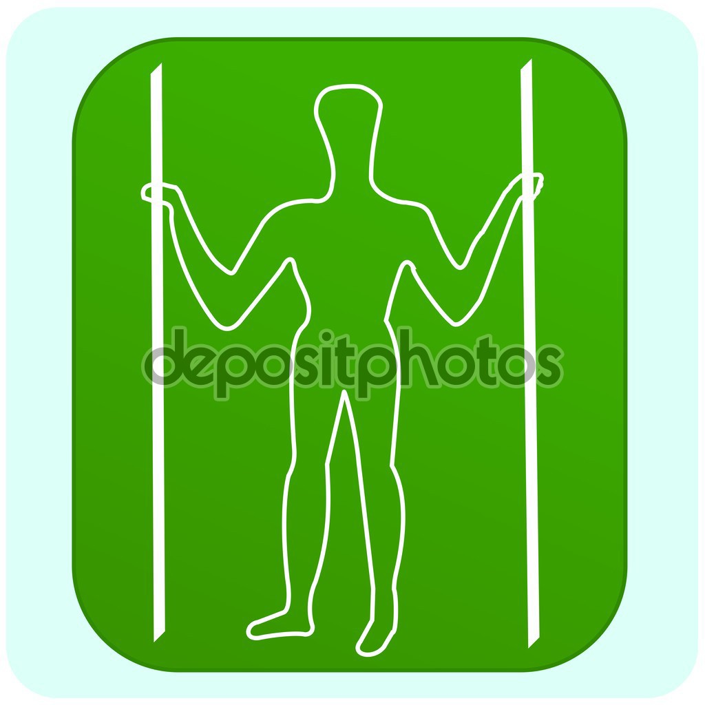 Illustration of Long Man of Wilmington — Stock Vector.