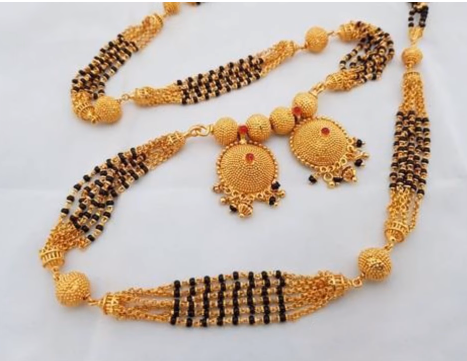 Latest Rich Look Black Bead Mangalsutras Designs.