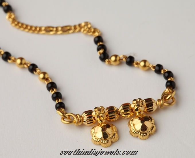 Latest Gold Mangalsutra Design.