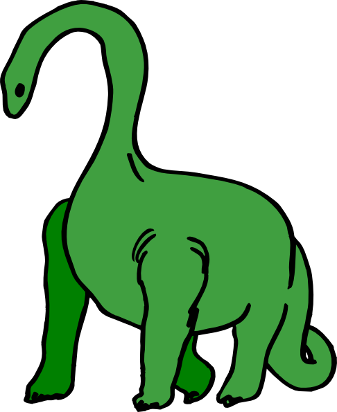 Green Long Necked Dinosaur Clip Art at Clker.com.