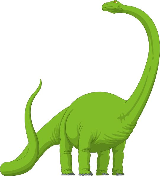 Long Neck Brachiosaurus Dinosaur.
